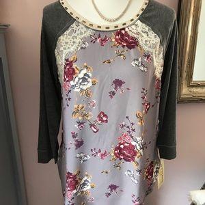 Tops - Rewind Floral Print Blouse